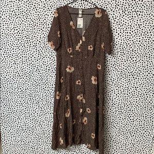 NWT H&M Floral Button Down Maxi Dress